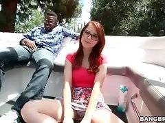 Adorable white slutie Penny Pax is going to taste big black cock.